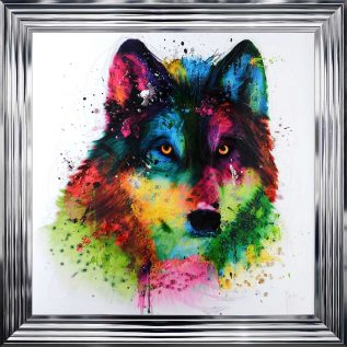 Wolf Framed Picture.
