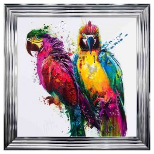 Tropical Parrots Framed Picture.