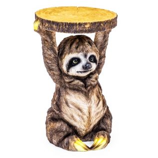 Sloth Side Table Holding Trunk Slice