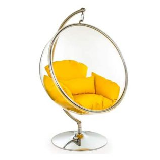 Retro Hanging Bubble Chair On Steel Base
