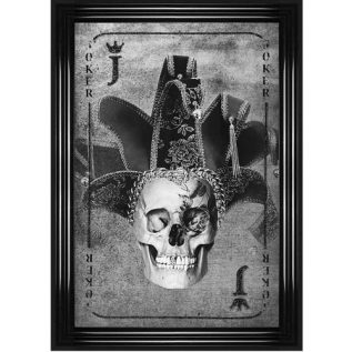 Joker Playing Card Framed Wall Picture