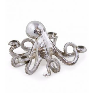Silver Octopus Candle Holder.