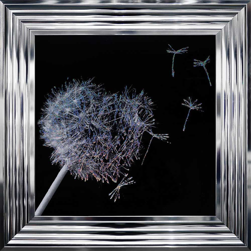 3D Dandelion Blowing In the Wind Framed Picture