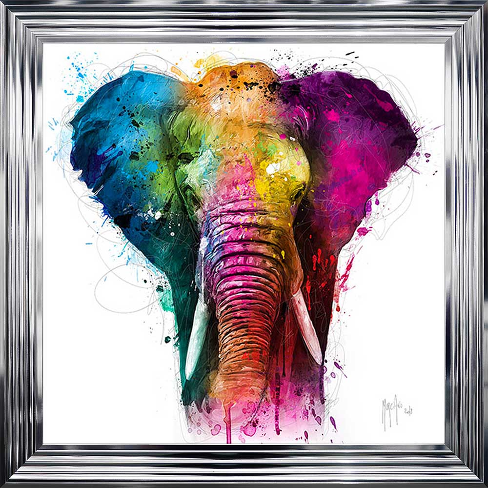 Africa Elephant Framed Picture.