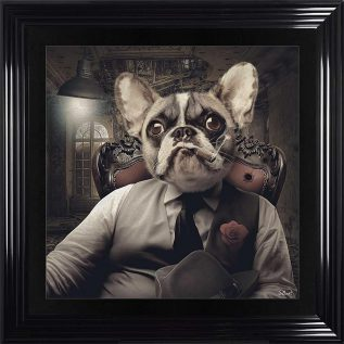Frenchie Mafia Framed Picture