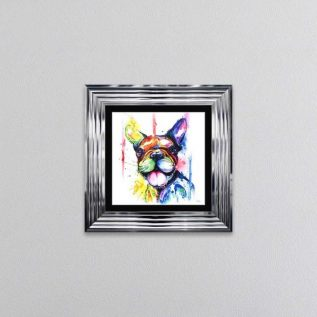 Watercolour Bulldog Framed Wall Art