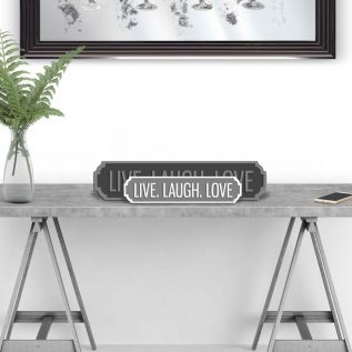 LIVE LAUGH LOVE - Vintage Street Sign in Grey and White.