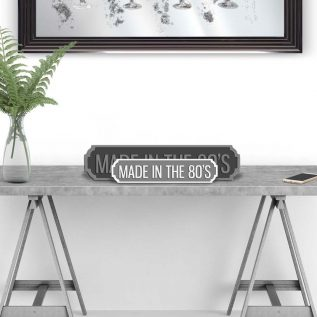 MADE IN THE 80s - Vintage Street Sign in Grey and White
