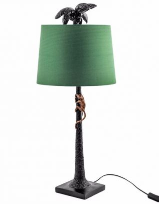 Palm Tree with Monkey Table Lamp