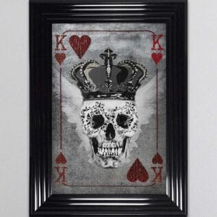 King of Hearts Playing Card Framed Wall Art