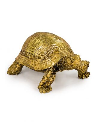 Small Gold Tortoise Figure Ornament