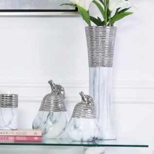 White and Silver Pear decoration collection