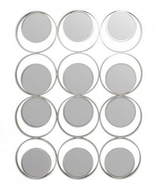 Silver Circles Wall Mirror
