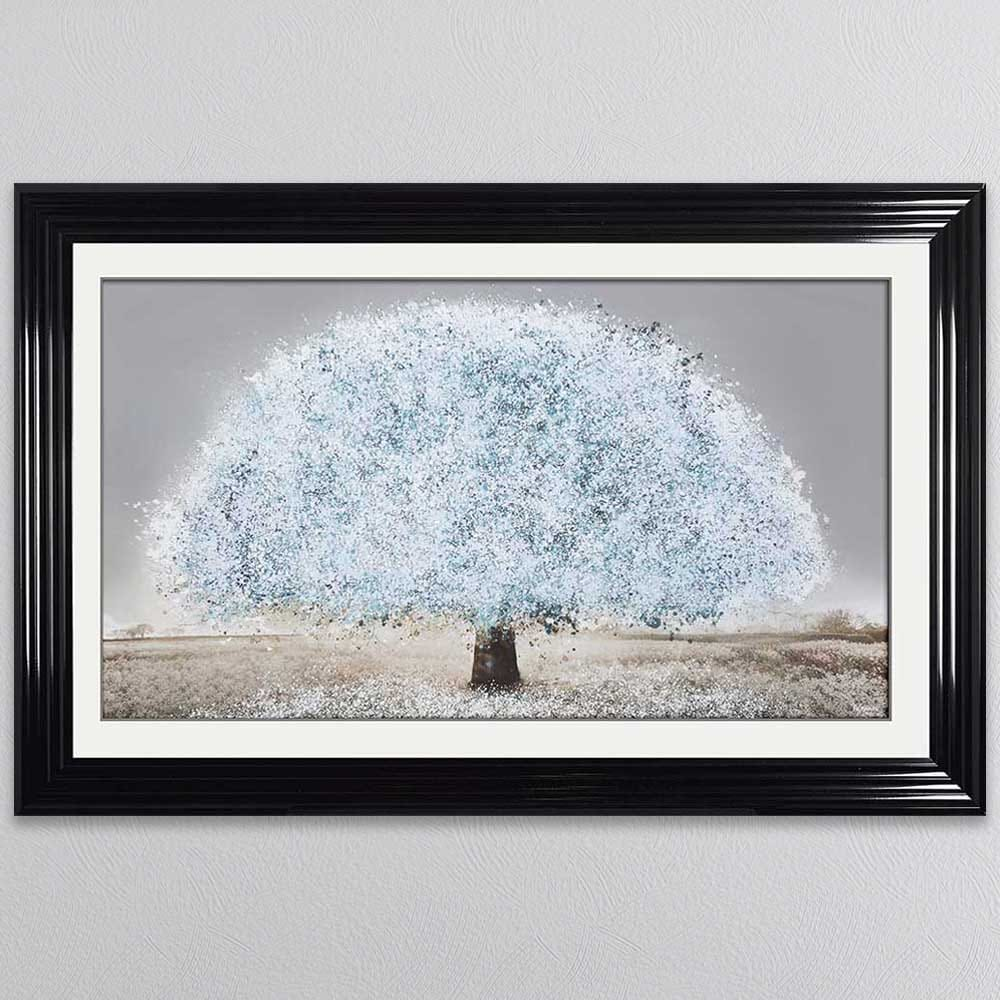 Blue Blossom Tree Framed Picture