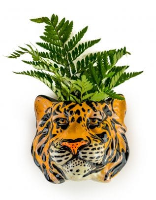 Tiger Head Wall Sconce Vase