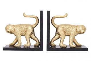 Hightail Gold Monkey Bookends