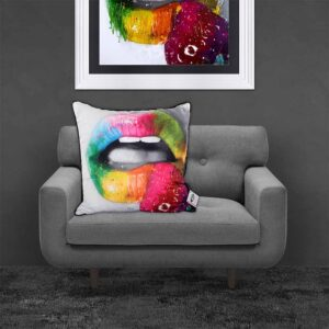 Patrice Murciano Fruity Kiss Lips Feather Filled Cushion