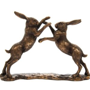 Boxing Hares Ornament