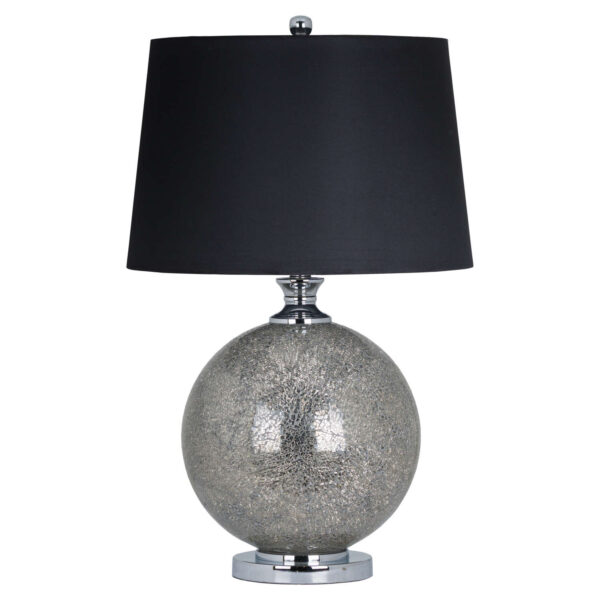 The Silver Chambery Mosiac Crackle Effect Lamp