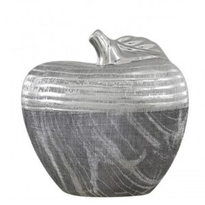 Grey and Silver Large Apple Decoration