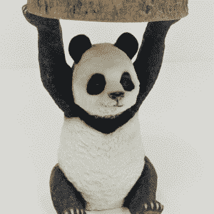 Panda Side Table Holding Trunk Slice