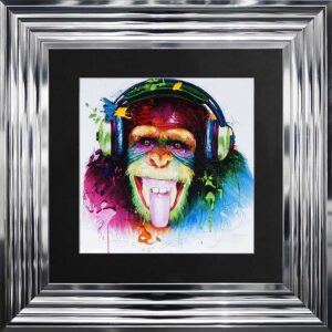 DJ Monkey Framed Picture by Patrice Murciano