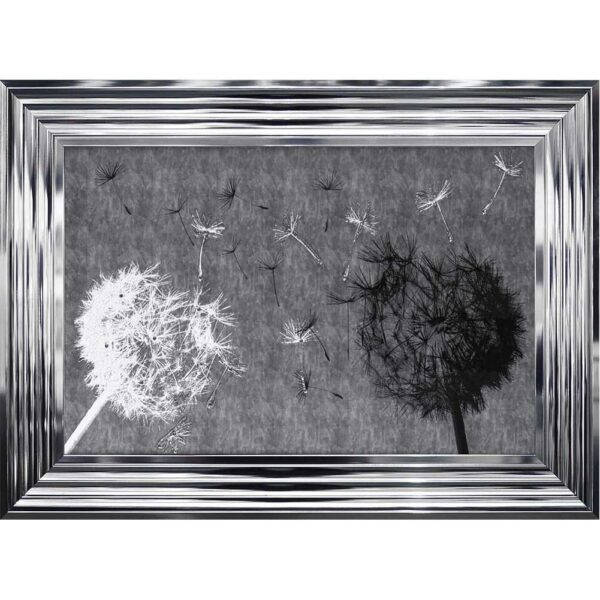 Black And White Dandelion Duo Framed Picture