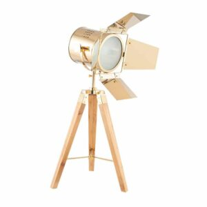 Tripod Table Lamp in Gold