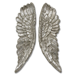 Wall Hanging Angel Wings in Silver