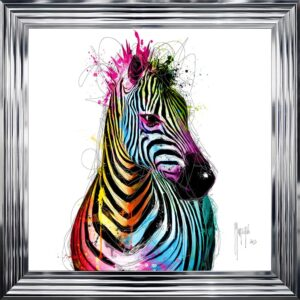 Zebra Framed Picture by Patrice Murciano