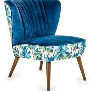 Tropical Blue Winged Occasional Chair