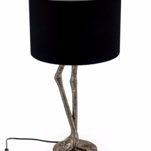 Silver Flamingo Leg Table Lamp With Black Shade