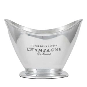 Polished Aluminium Champagne Oval Cooler