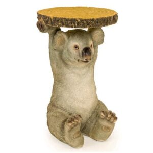 Koala Side Table Holding Trunk Slice